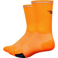 "DeFeet Cyclismo Reflector 5"" Socks - Hi Vis Orange"