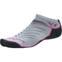 Swiftwick Vibe Zero Socks - Pewter/Pink/Gray