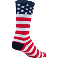 SockGuy USA Flag Crew Socks - Red/White/Blue