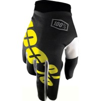 100% iTrack Gloves 2017 - Black/Neon Yellow