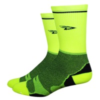 "DeFeet Levitator Lite 5"" Socks - Hi-Vis Yellow"