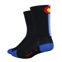 "DeFeet Aireator 5"" Colorado Socks - Black/Blue"