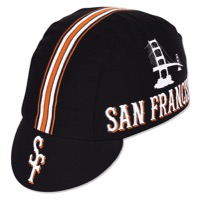 Pace San Francisco Cycling Cap - Black/White/Orange