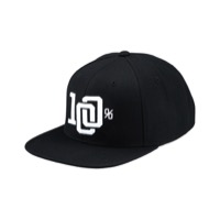 100% College Hat - Black