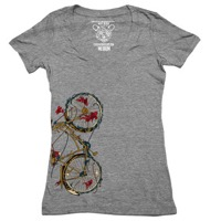 Clockwork Gears Cycling Fish T-Shirt - Grey