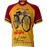 World Jerseys Monark Cycling Jersey - Gold/Red