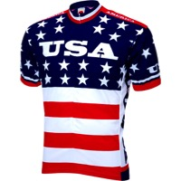 World Jerseys Team USA 1979 Retro Cycling Jersey - Red/White/Blue