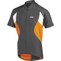 Louis Garneau Transit Short Sleeve Jersey - Gray/Fluo Orange
