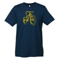 Mechanical Threads Fat Bike T-Shirt - Blue