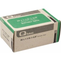"Q Tubes/Teravail Standard Schrader Tubes - 20"" Road"
