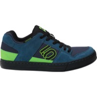 Five Ten Freerider Flat Pedal Men's Shoe - Blanch Blue/Solar Green