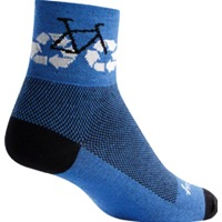 SockGuy Recycle Bike Socks - Blue