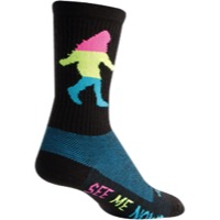 SockGuy Sasquatch Neon Wool Socks - Black