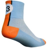 SockGuy Lucky 13 Socks - Blue/Orange