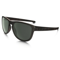 Oakley Sliver Round Sunglasses - Brown Tortoise/Dark Gray Lens