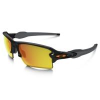 64736117499 Oakley Flak 2.0 XL Team Colors Sunglasses - Polished Black Fire Iridium Lens