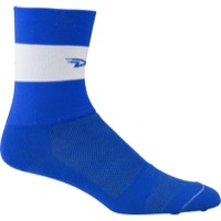 "DeFeet Aireator 5"" Team Socks - Blue/White Stripe"