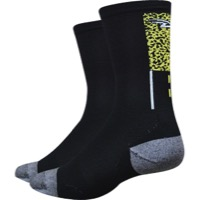 "DeFeet Levitator Lite 5"" Edgemont Socks - Black/Gray"