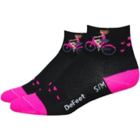 "DeFeet Aireator 2"" Joy Rides Womens Socks - Black"