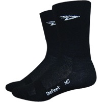 "DeFeet Aireator 5"" Double Cuff Socks - Black"