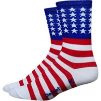"DeFeet Aireator 5"" USA Socks - Red/White/Blue"