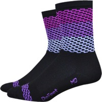 "DeFeet Aireator 4"" Charleston Socks - Black/Purple"