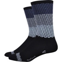 "DeFeet Aireator 6"" Charleston Socks - Black/Gray"