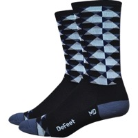 "DeFeet Aireator 6"" High Ball Socks - Black/Gray"