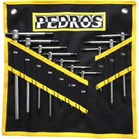 Pedros Master T Handle Hex Wrench Set w/Pouch