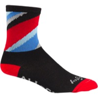 All-City Zig Zag Socks - Black/Red/Blue