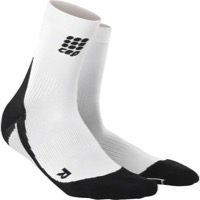 CEP Dynamic+ Cycle Short Women's Socks - White/Black