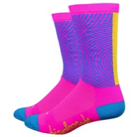 "DeFeet Aireator 6"" Concentric Circles Socks - Pink"