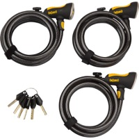On Guard Doberman Keyed Alike Cable Lock Set of 3