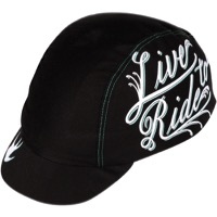 Pace Live to Ride Cycling Cap - Black/White