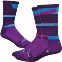 "DeFeet Aireator 6"" Ornot Socks - Plum/Blue"