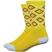"DeFeet Aireator 6"" Ten Speed Hero Socks - Yellow Diamond"