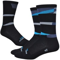 "DeFeet Aireator 6"" Ornot Socks - Black/Blue"