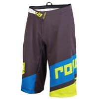 Royal Racing Victory Race Shorts - Charcoal/Yellow/Cyan