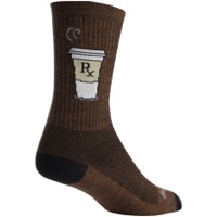 SockGuy Addict Socks - Brown