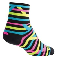 SockGuy Tubular Socks - Black/Yellow