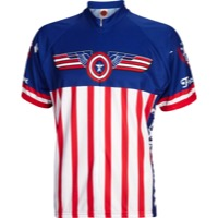 World Jerseys USA Freedom Jersey - White/Blue/Red