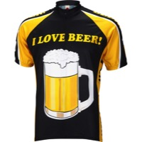 World Jerseys I Love Beer Jersey - Black/Gold