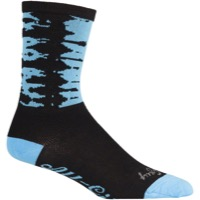 All-City Darker Wave Socks - Black/Blue