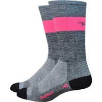 "DeFeet Aireator 7"" SL Socks - Grey/Pink"