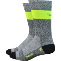 "DeFeet Aireator 7"" SL Socks - Grey/Yellow"