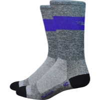 "DeFeet Aireator 7"" SL Socks - Grey/Purple"