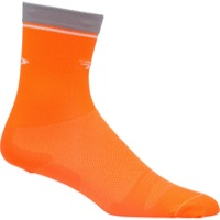 "DeFeet Levitator Lite 5"" Socks - Orange/Grey"