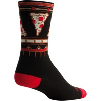SockGuy Za Crew Socks - Black/Red
