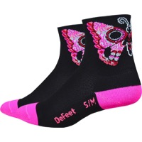"Defeet Aireator 3"" Sugarfly Women's Socks - Black/Pink"