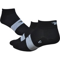 "Defeet Aireator 1"" Team Socks - Black/White Stripe"